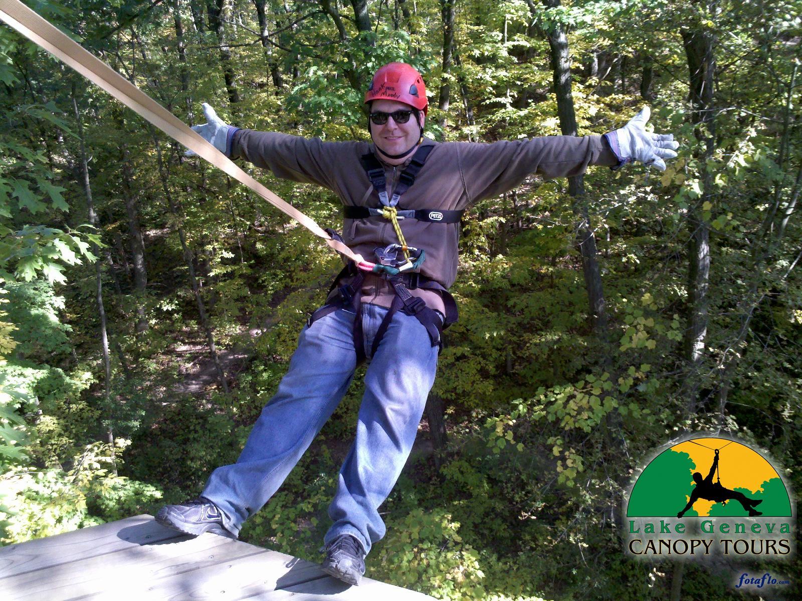 Hanging At Lake Geneva Canopy Tours