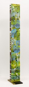 """Aquatilis No.12 (side two), 2010, 75""x 8""x4"". Acrylic and sumi ink on wood."