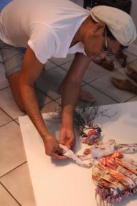 Aponte-Sierra working on Bella (Catwalk Collection) by Rico Roland