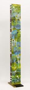 """Aquatilis No.12 (side two), 2010, 75""x 8""x4"". Acrylic and sumi ink on wood."